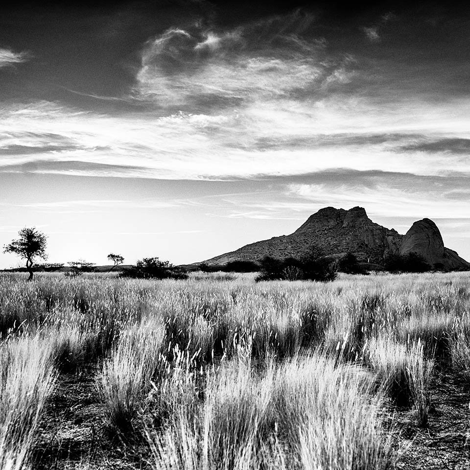 Sunset at Spitzkoppe in Namibia - photography